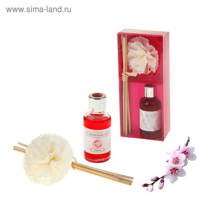 "Подарочный набор ""Хризантема"": диффузор 30 мл, палочки 4шт, декор, аромат сакура"