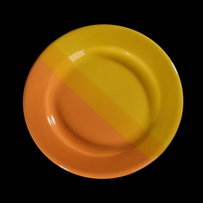Тарелка десертная 19 см, цвет жёлто-оранжевый
