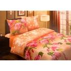 """Постельное бельё Pastel """"Южная ночь"""", цвет розовый, 1,5 сп., размер 147х217 см, 150х220 см, 70х70 см - 2 шт., поплин, 110 г/м2"""