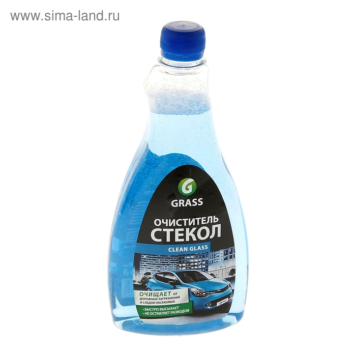 Очиститель стекол Clean Glass автохимия, сменный флакон ПЭТ  0,5 кг