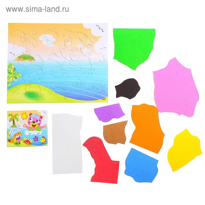 "Аппликация 3D ""Зверюшки в море"" из ЕVA"