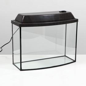 Аквариум телевизор с крышкой, 30 литров, 46 х 20 х 33/38,5 см, венге