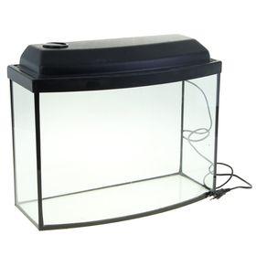 Аквариум телевизор с крышкой, 30 литров, 46 х 20 х 33/38,5 см, чёрный