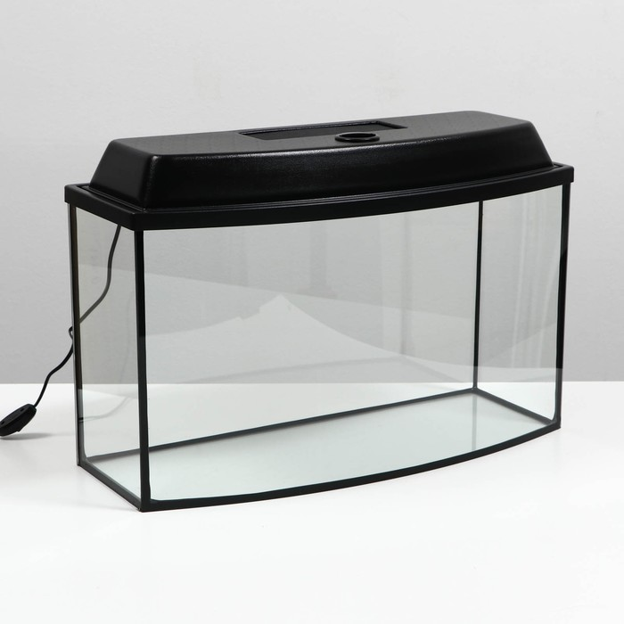 Аквариум с крышкой телевизор 55л, 63 х 25 х 36 см, черный