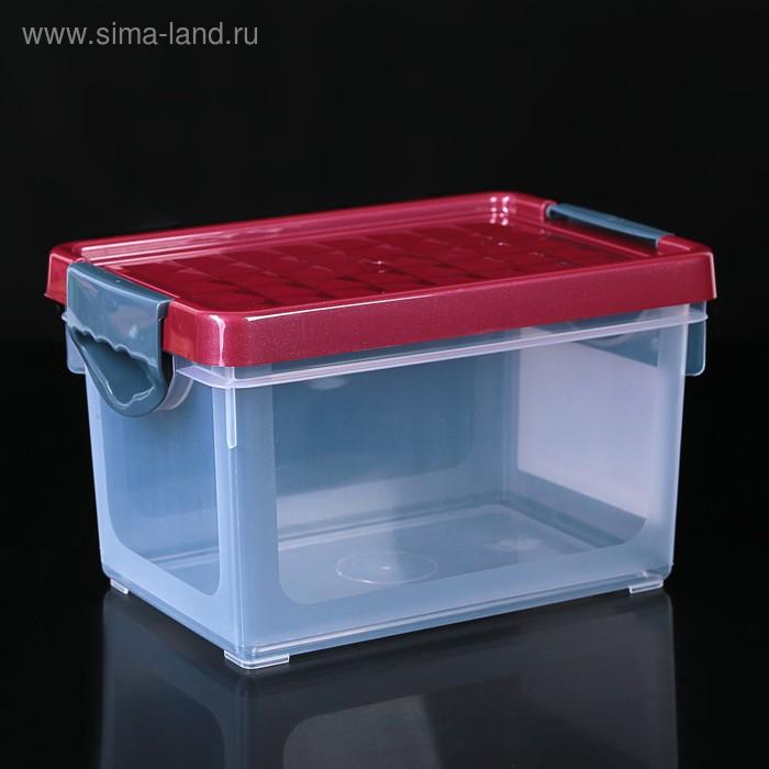 Контейнер для хранения 5 л Systema прямоугольный с зелёной крышкой
