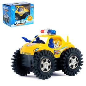 Машина-перевёртыш «Полиция», работает от батареек, цвета МИКС Ош
