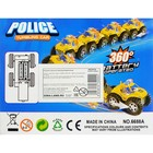 Машина-перевёртыш «Полиция», работает от батареек, цвета МИКС - фото 105649103