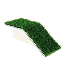 Мостик для черепахи №1 с травой, 200*100*65 мм