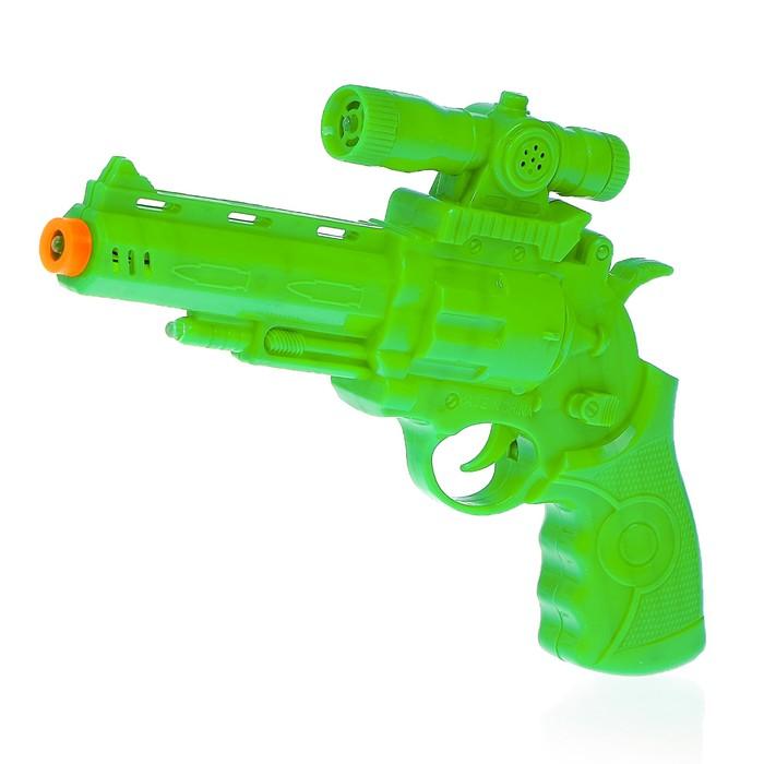 Пистолет «Стрелок», световые и звуковые эффекты, работает от батареек