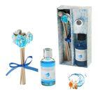 "Подарочный набор ""Букетик"": диффузор 30 мл, палочки 5шт, декор, аромат океан"