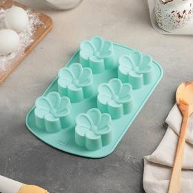 Baking dish, 6 cells, 25x17x4 cm Nezabudka, MIX colors.