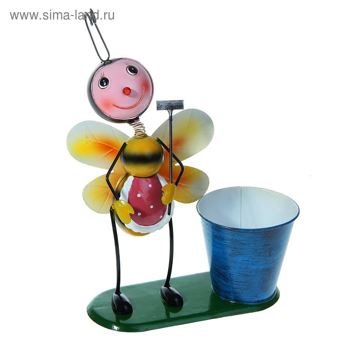 """Садовая фигура с кашпо """"Пчела"""" микс"""