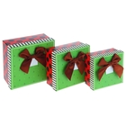 "Набор коробок 3 в 1 ""Якоря"", 16,8 х 16,8 х 9 - 12,5 х 12,5 х 6 см"