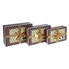 """Набор коробок 3 в 1 """"О любви"""", цвет коричневый, 27,5 х 19,5 х 8 - 23,5 х 15,5 х 6 см"""