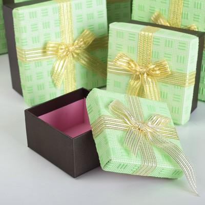 "Набор коробок 7в1 ""Фактура"", салатовый, 22 х 22 х 12 - 10 х 10 х 6 см"