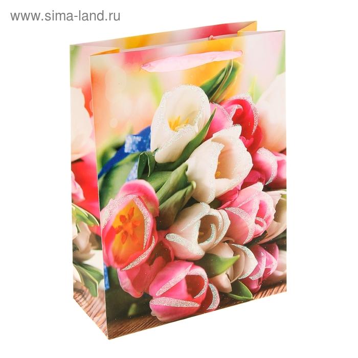 """Пакет ламинированный """"Букет тюльпанов"""""""