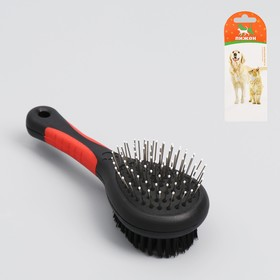 Brush-comb-sided, 17.5 cm, handle the mix of colors