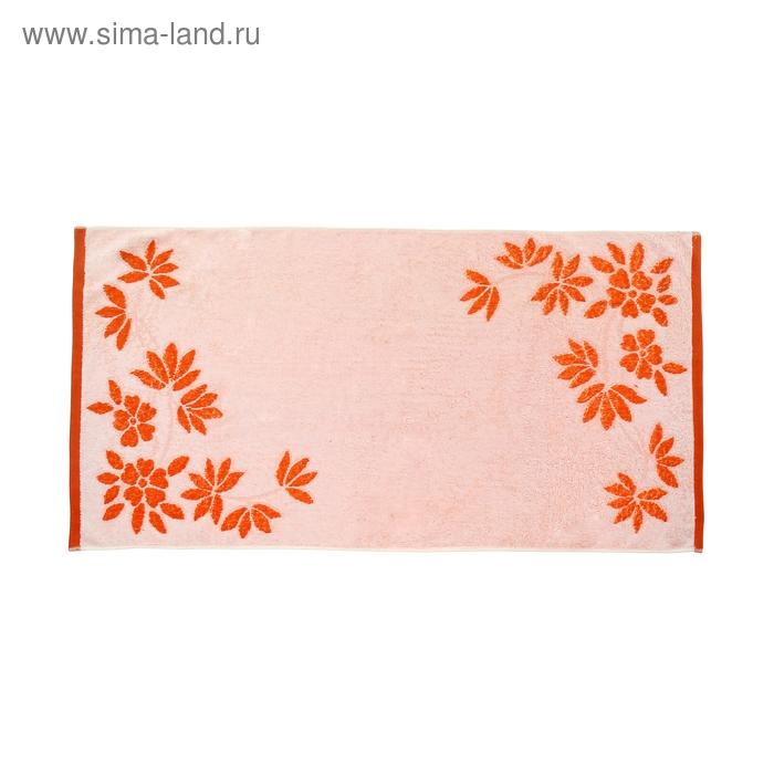 "Полотенце махровое ""Этель Листопад"" 50х100 см, цв. оранж., 450 гр/м2"