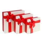 """Набор коробок 3 в 1 """"Симфония цвета"""", красный, 28 х 28 х 9,5 - 19,5 х 19,5 х 7 см"""