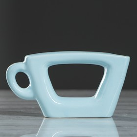 "Ваза ""Чашка"", голубой цвет, 7 см"
