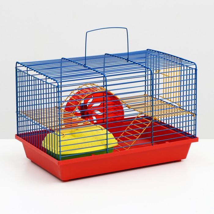 """Клетка для грызунов """"Венеция -комплект""""  (колесо+домик), 36 х 24 х 27 см"""