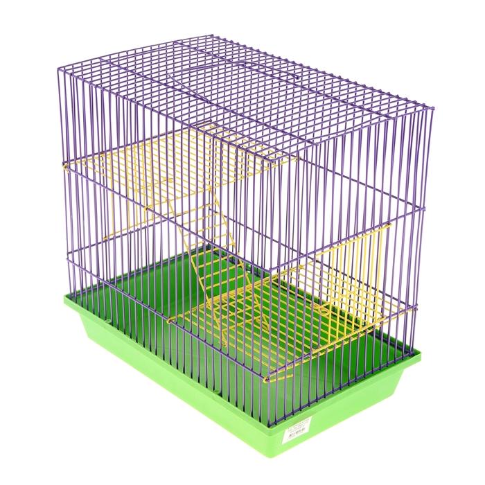 Клетка для грызунов 3-этажная с металлическими полками и лесенками, 36 х 24 х 38 см
