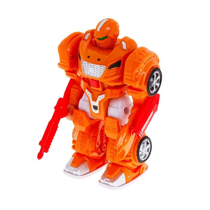 Робот «Разрушитель», работает от батареек, цвета МИКС, в пакете