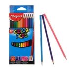 Карандаши трехгранные 12 цветов Color Peps, европодвес