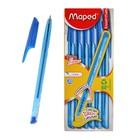 Ручка шариковая Maped Green Ice FINE, стержень синий, узел 0.7 мм, трёхгранная, одноразовая