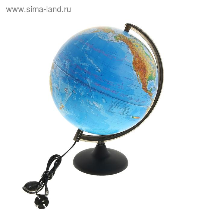 Глобус физический диаметр 300 мм, с подсветкой
