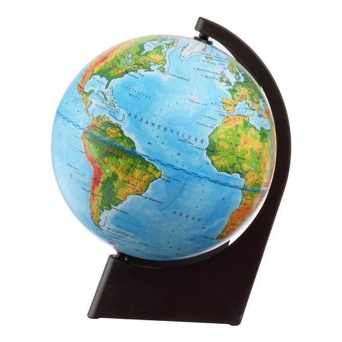 Глобус физический на треугольной подставке, диаметр 150 мм