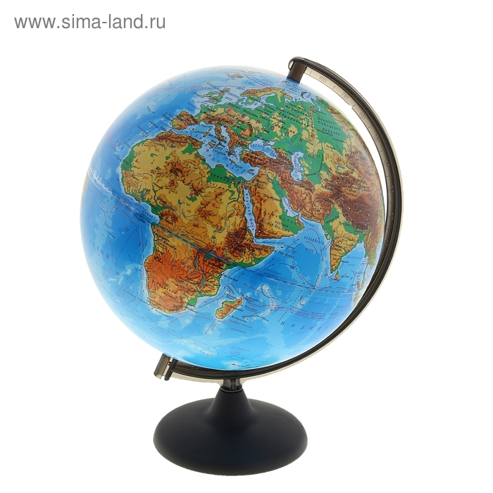 Глобус физический диаметр 300 мм