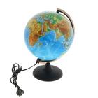 Глобус физический диаметр 250 мм, с подсветкой