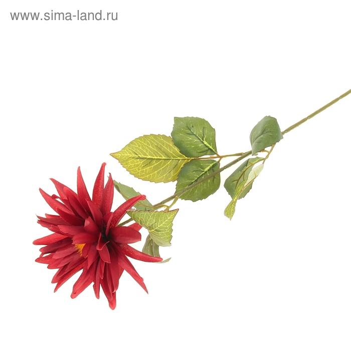 """Цветок искусственный """"Красный георгин"""""""