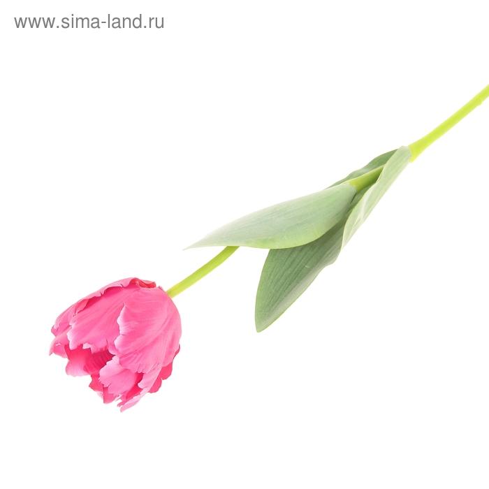 """Цветок искусственный """"Волнистый тюльпан"""" малиновый"""