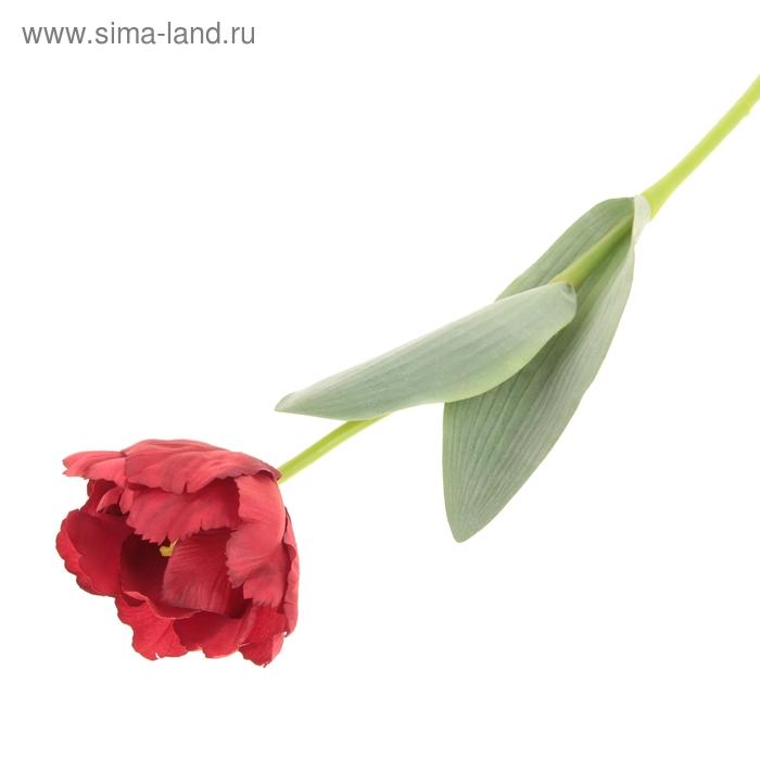 """Цветок искусственный """"Волнистый тюльпан"""" красный"""