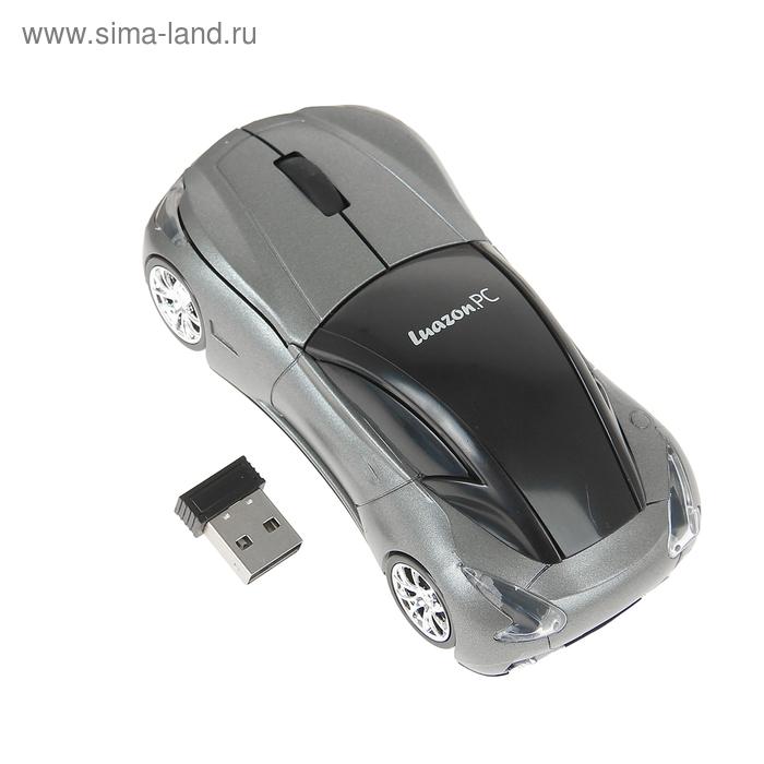 Мышь Luazon L-2379, оптическая, беспроводная, USB, серая