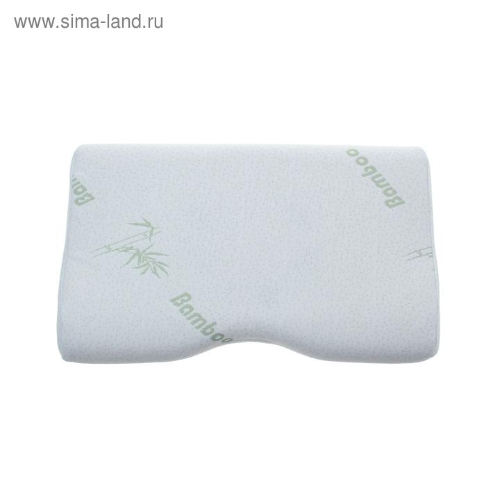 """Подушка """"Релакс"""" с выемкой под плечо и памятью формы, размер 50х30х7-10 см, пенополиуритан, бамбук"""