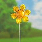 "Декоративный штекер ""Солнечный цветок"" жёлтый"