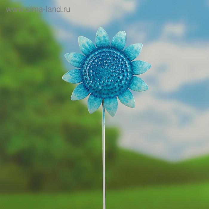 """Декоративный штекер """"Синий подсолнух"""""""