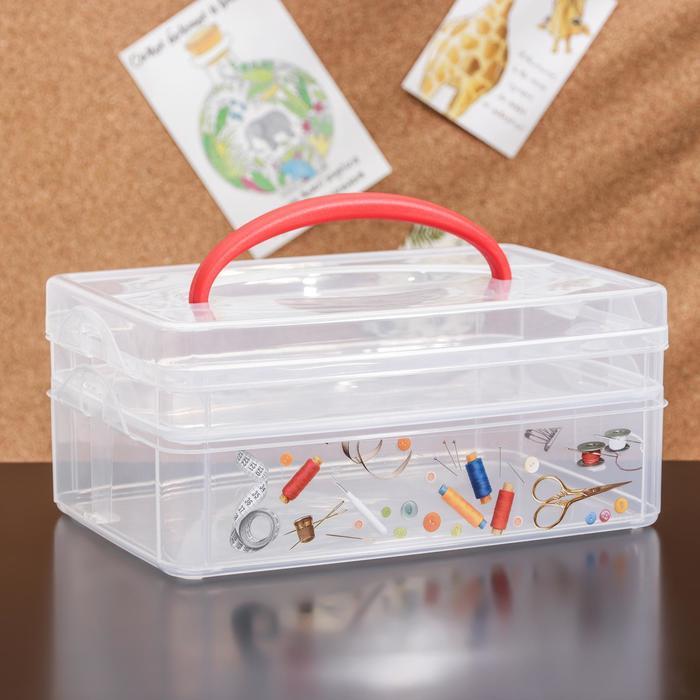 Контейнер универсальный Multi box, 2 секции, рисунок МИКС