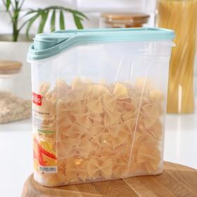 Емкость для сыпучих продуктов phibo, 2 л, цвет МИКС
