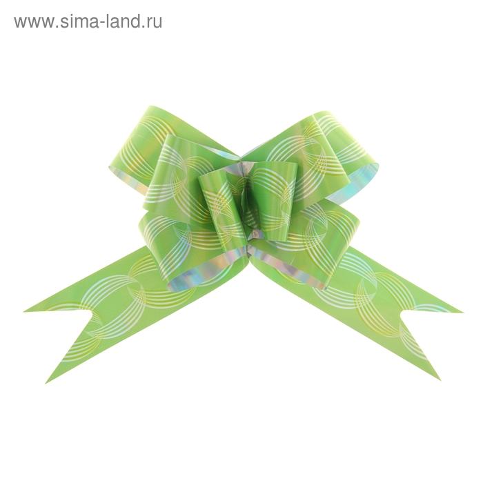 """Бант-бабочка №3 """"Кофейные зерна"""", цвет зелёный"""