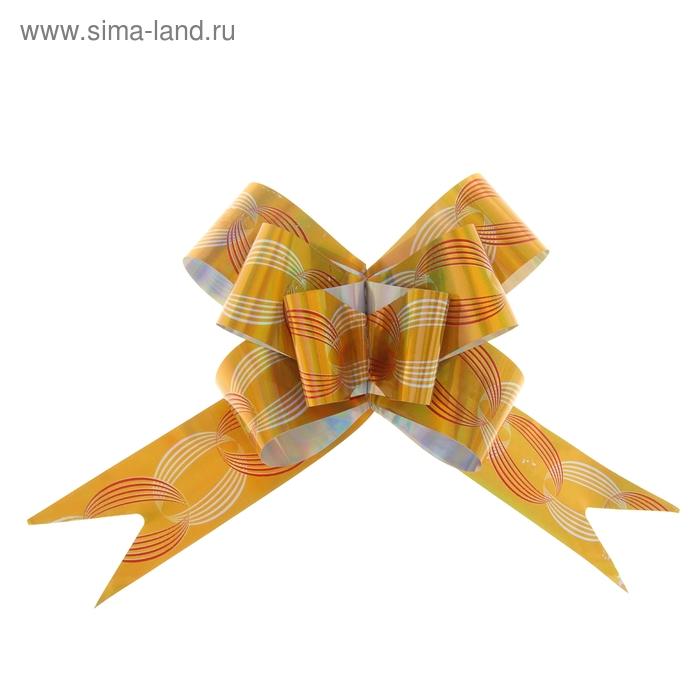"""Бант-бабочка №3 """"Кофейные зерна"""", цвет золото"""