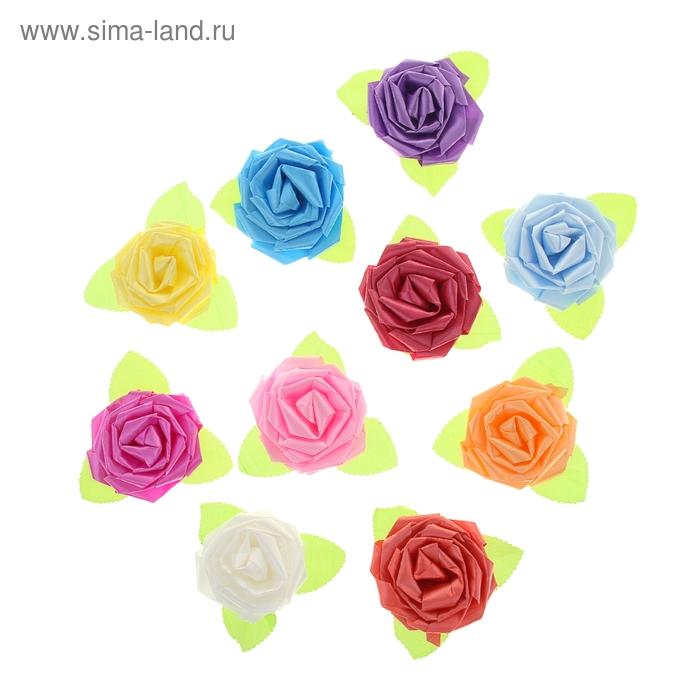 Бант-роза №6,5 (набор 50 шт), цвета ассорти