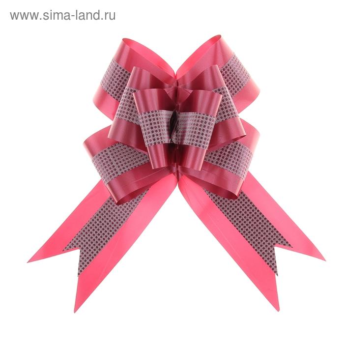 """Бант-бабочка №7 """"Фактурная полоса"""", цвет бордовый"""