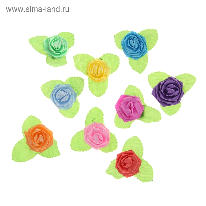 Бант-роза №3 (набор 100 шт), цвета ассорти