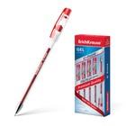 Ручка гелевая G-POINT узел-игла 0.38мм, чернила красные, длина линии письма 500м