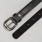Ремень детский, винт, пряжка под металл, ширина - 2см, 75 см, цвет чёрный - фото 105569627