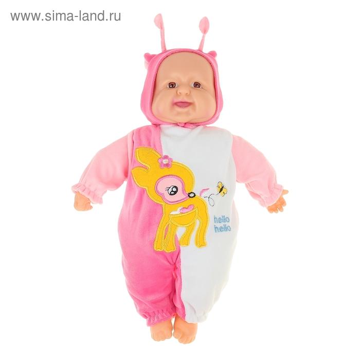 """Мягкая игрушка """"Кукла костюм олененок Бэмби"""" смеётся (работает от батареек)"""